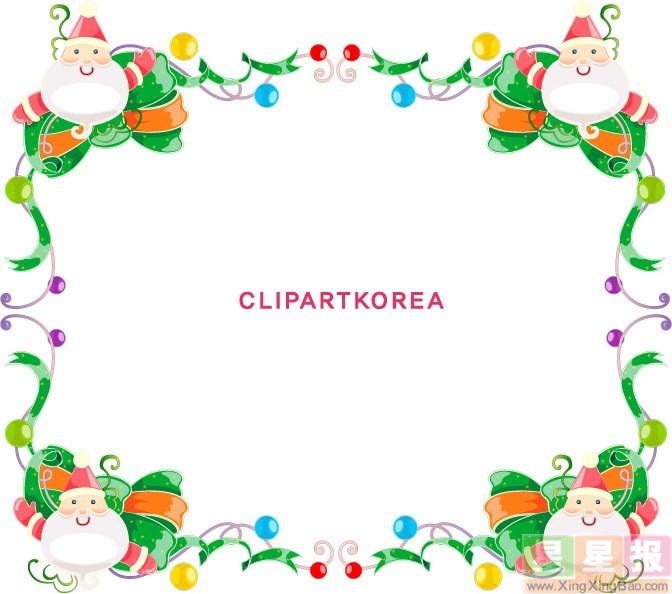 圣诞节手抄报版面设计花边图片3张