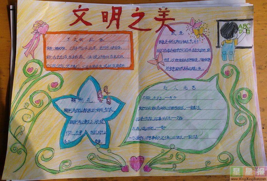 五年级小学生英语手抄报