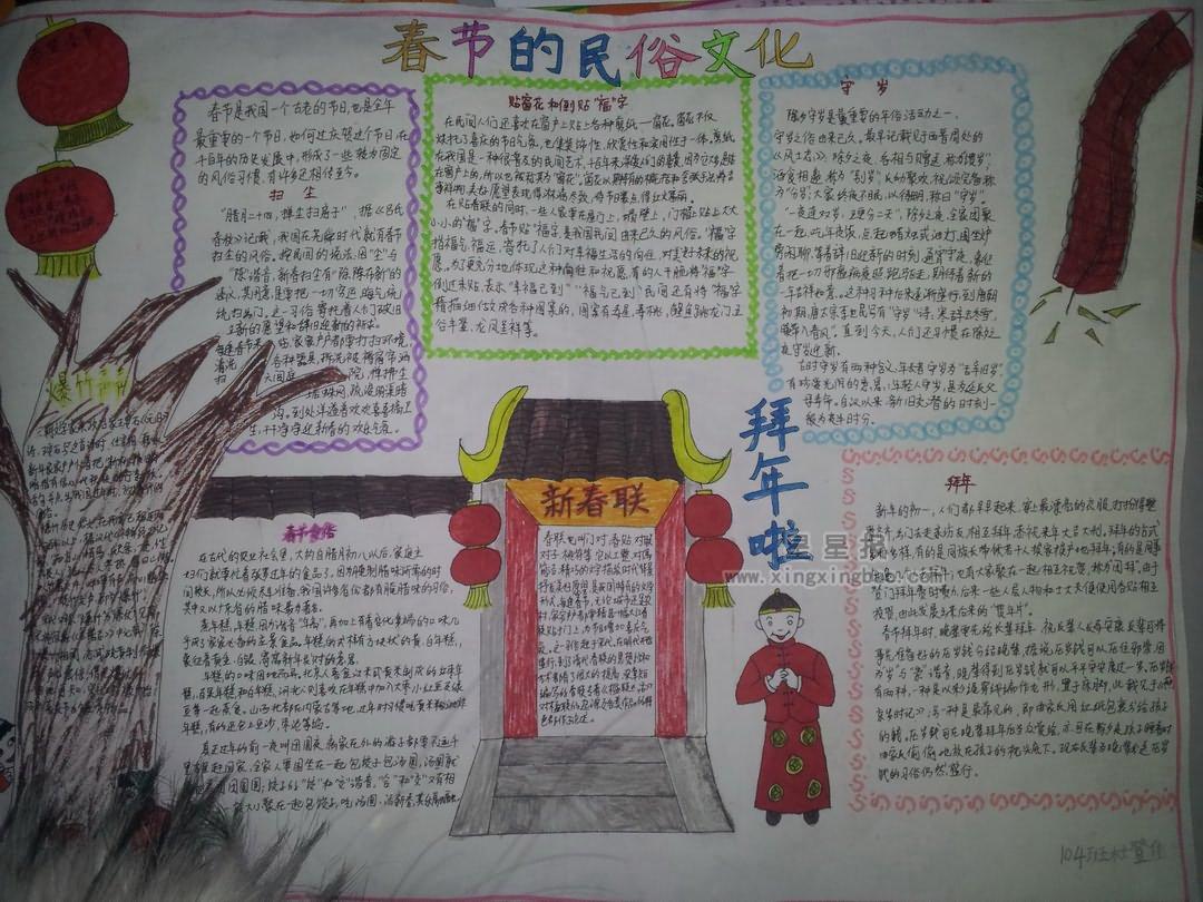 春节的民俗文化手抄报资料