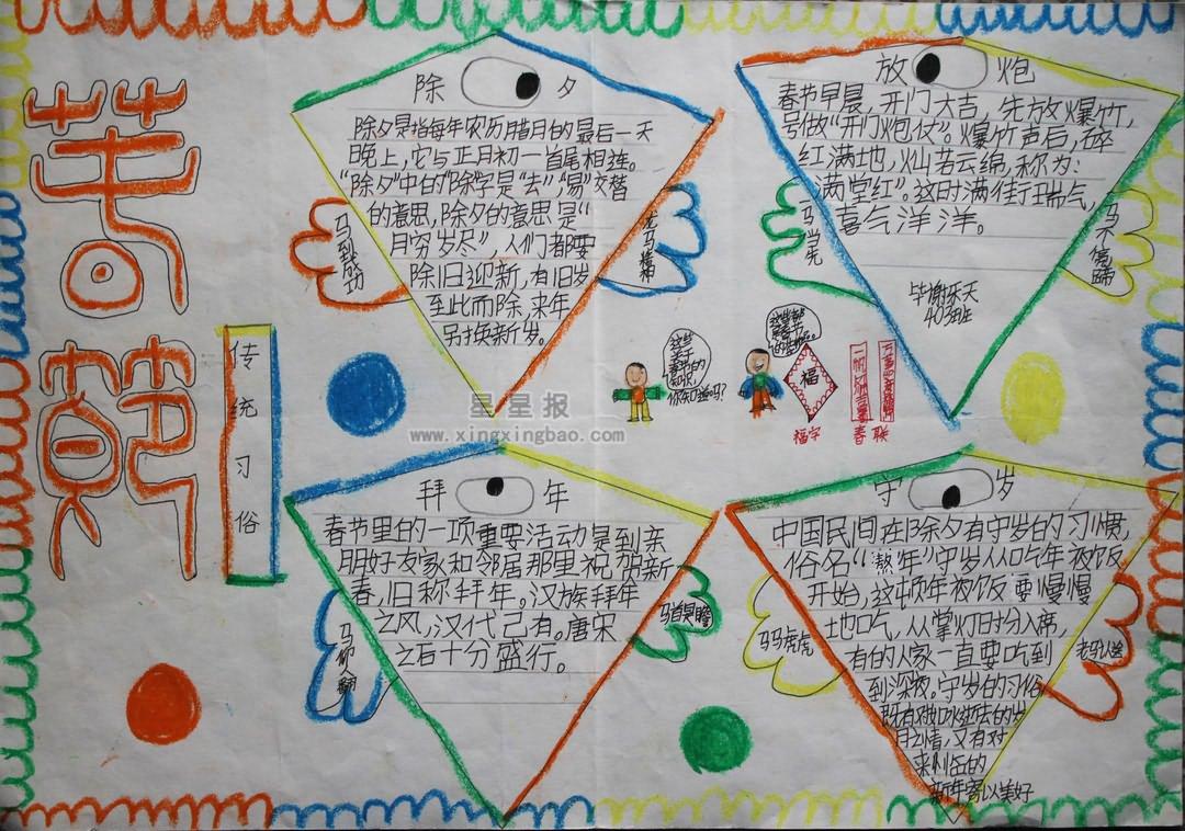 四年级奥运英语手抄报 星星报