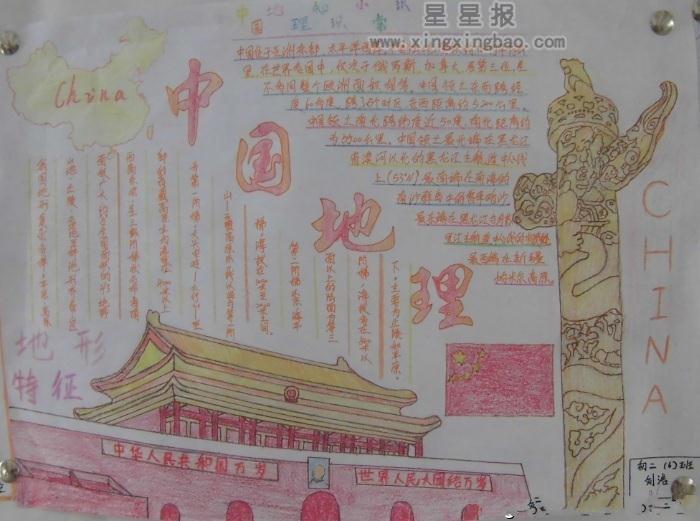 关于中国地理手抄报图片4幅