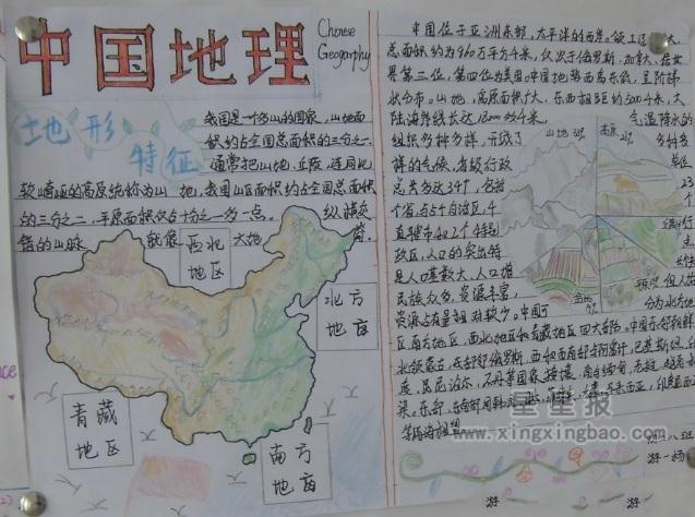 关于中国地理手抄报图片4幅图片