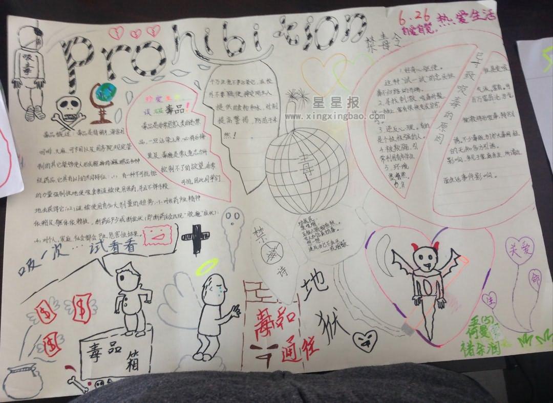 6.26国际禁毒日手抄报资料
