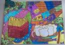 小学生美食街手抄报图片