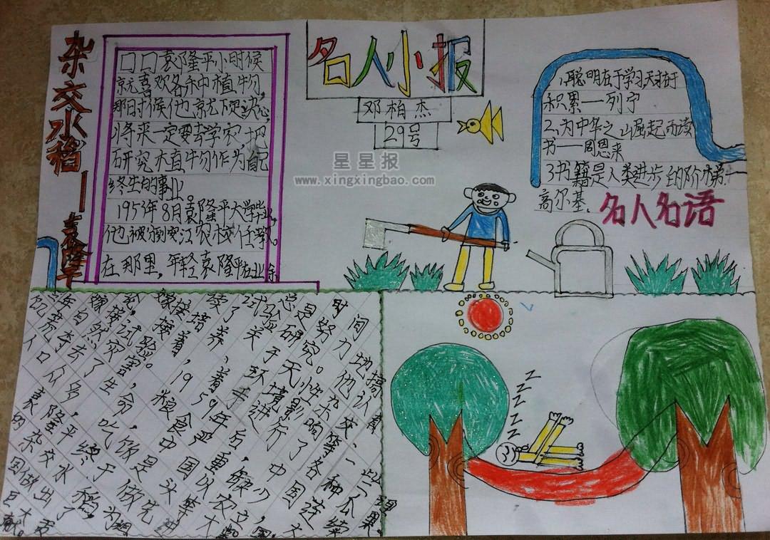 三年级关于名人手抄报图片9幅图片