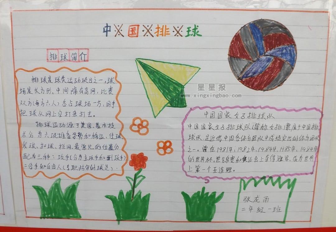 中国排球手抄报图片