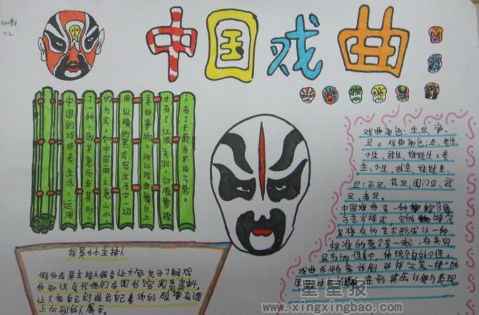 中国戏曲手抄报图片