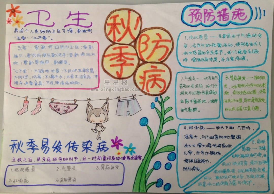 星星报 手抄报 小学生手抄报 >> 正文内容   秋季是肠道传染病(秋季肠