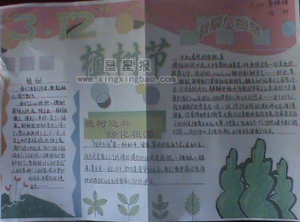 3.12植树节手抄报资料