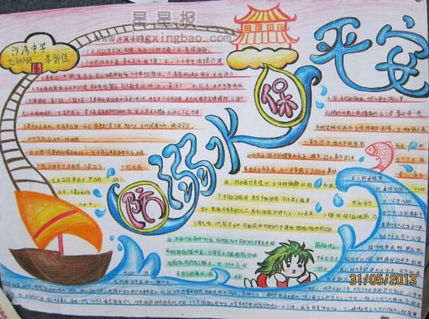海洋世界手抄报版面设计图展示