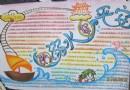 防溺水保平安手抄报版面设计图