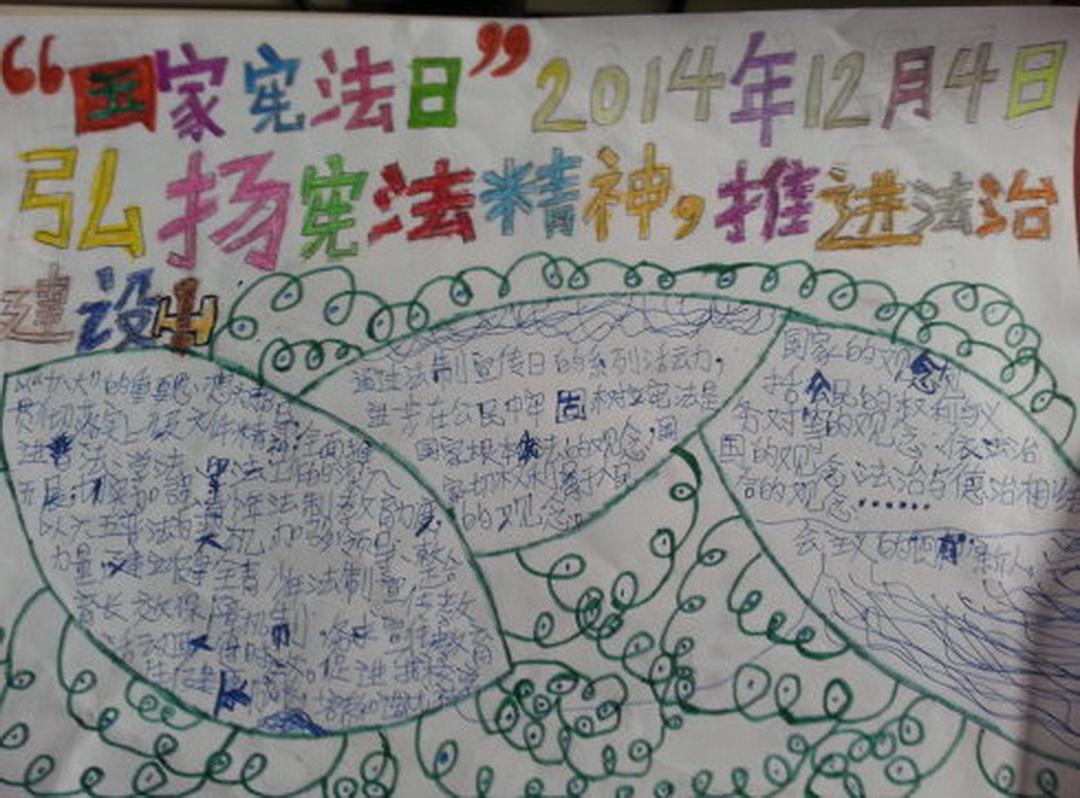 国家宪法日手抄报图片3张