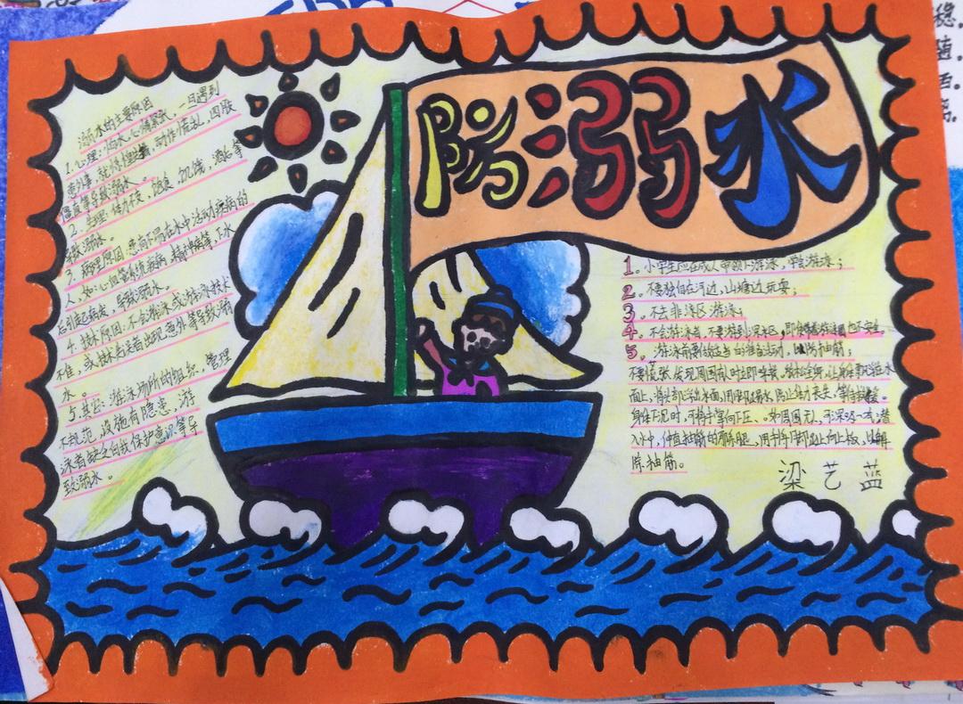 关于防溺水手抄报版面设计图 - 星星报