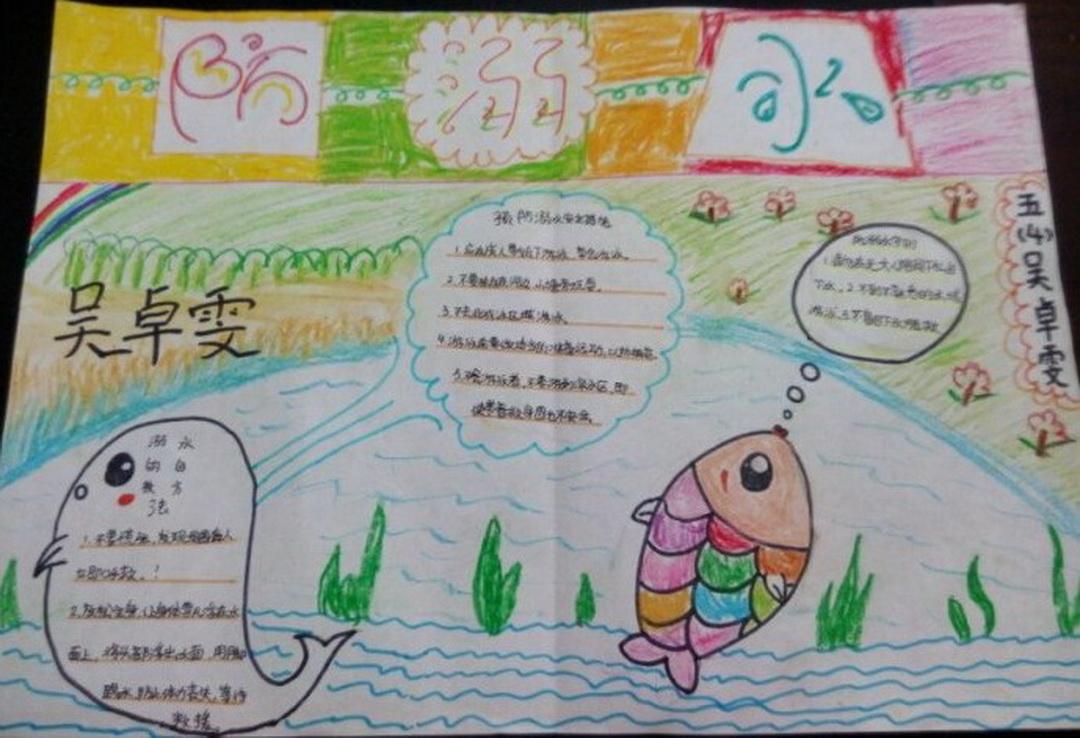 五年级防溺水手抄报图片