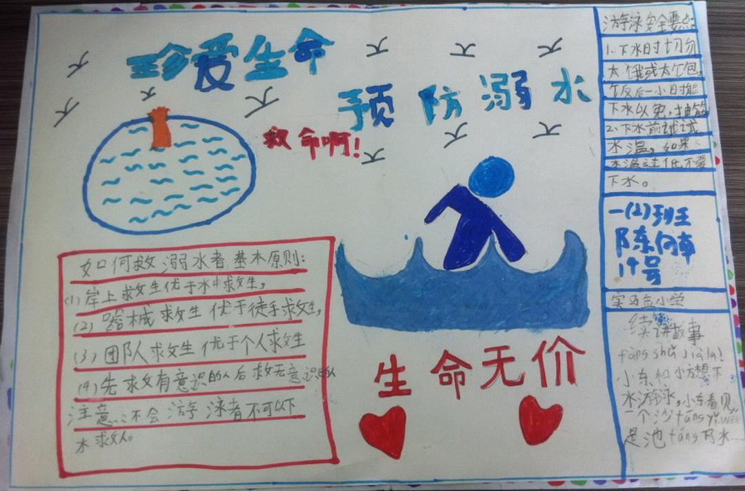 珍爱生命预防溺水手抄报图片5张图片