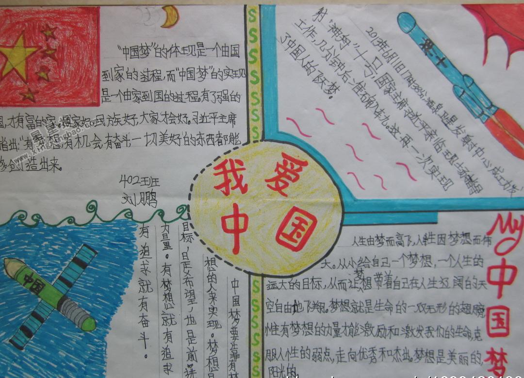 我爱中国手抄报资料