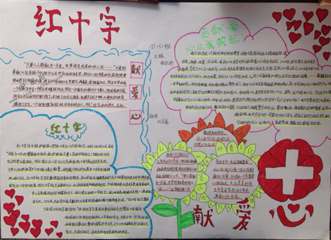 小学生红十字手抄报内容图片