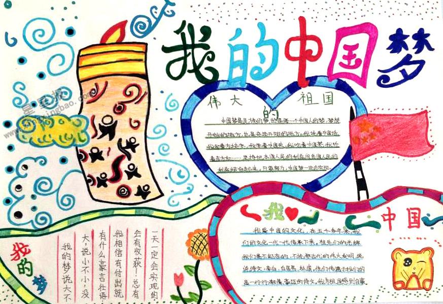 我的中国梦手抄报版面设计图