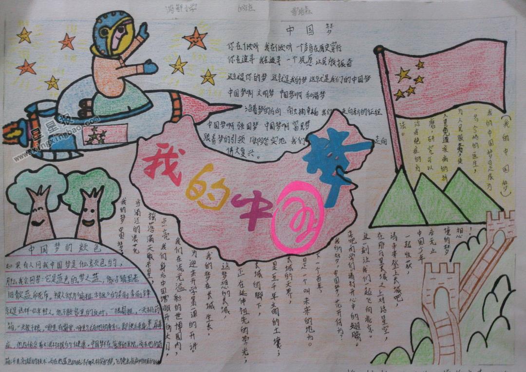 我的中国梦手抄报图片、资料