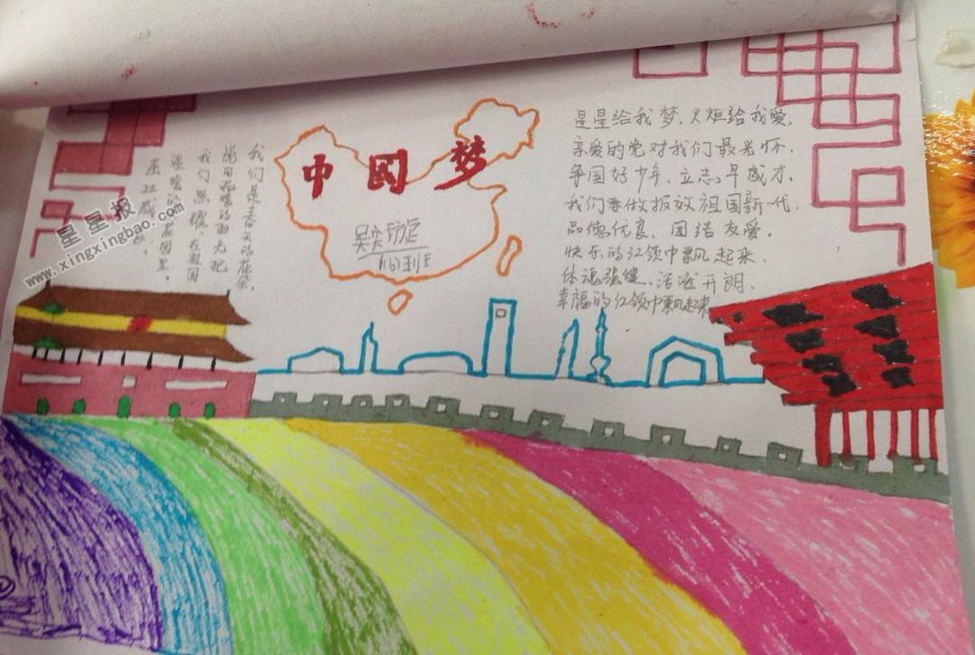 中国梦手抄报图片大全