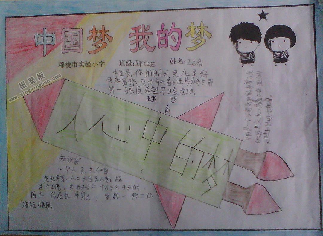 中国梦我的梦手抄报内容