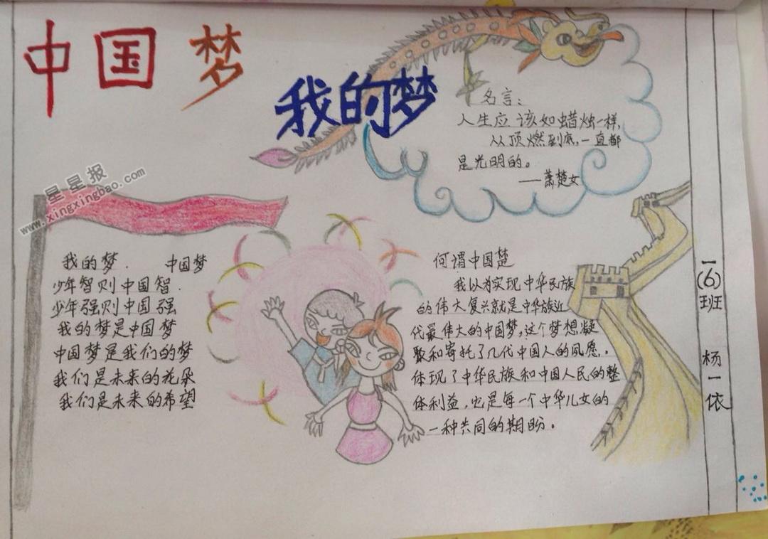 中国梦我的梦手抄报图片大全