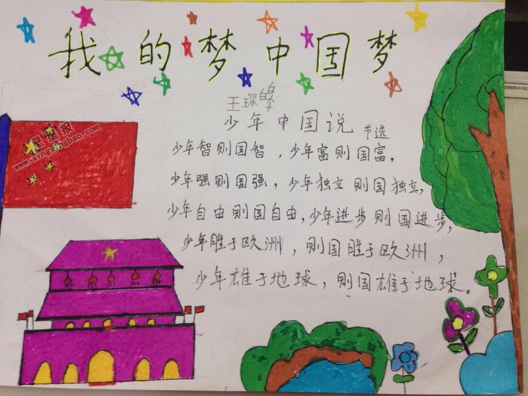 中国梦我的梦手抄报图片,内容
