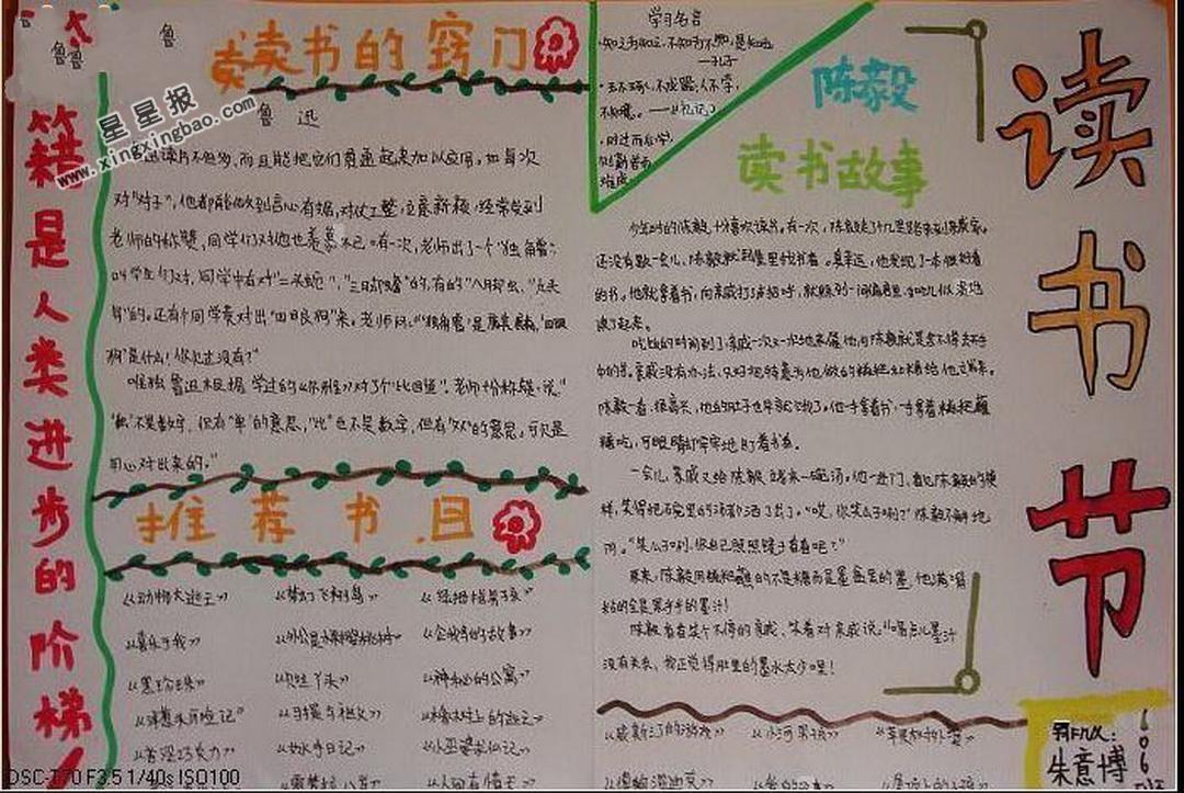 读书手抄报 >> 正文内容       今天是读书节,学校要举行淘书乐活动.