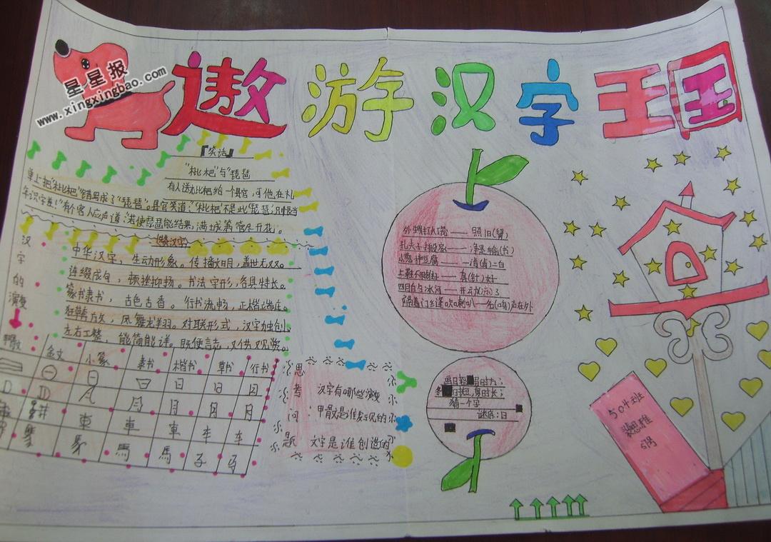 汉语拼音表手抄报