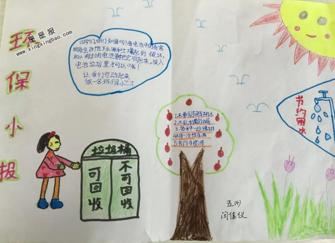 小河简笔画_环保手抄报图片、内容 - 星星报