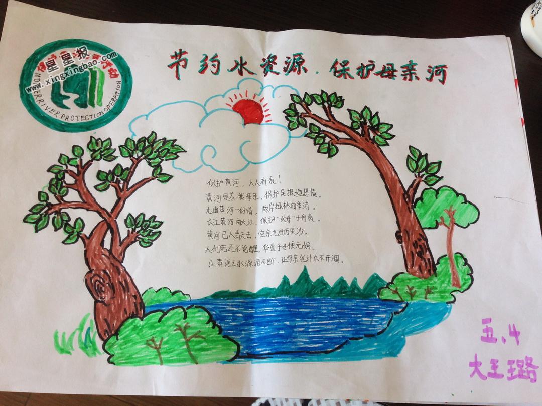 节约水资源 保护母亲河手抄报图片,内容