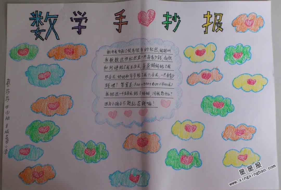 年級單詞手抄報初中圖_小學生手抄下冊報表英語數學內容一初中圖片