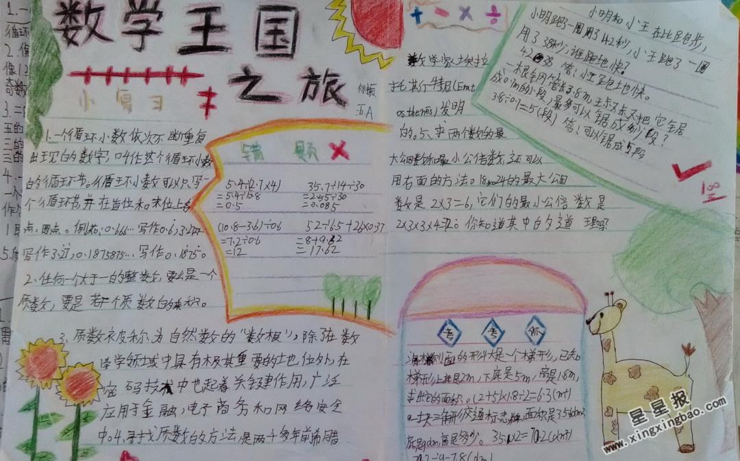 数学王国手抄报内容