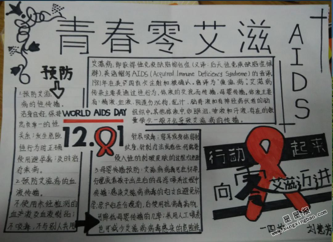 青春零艾滋手抄报内容