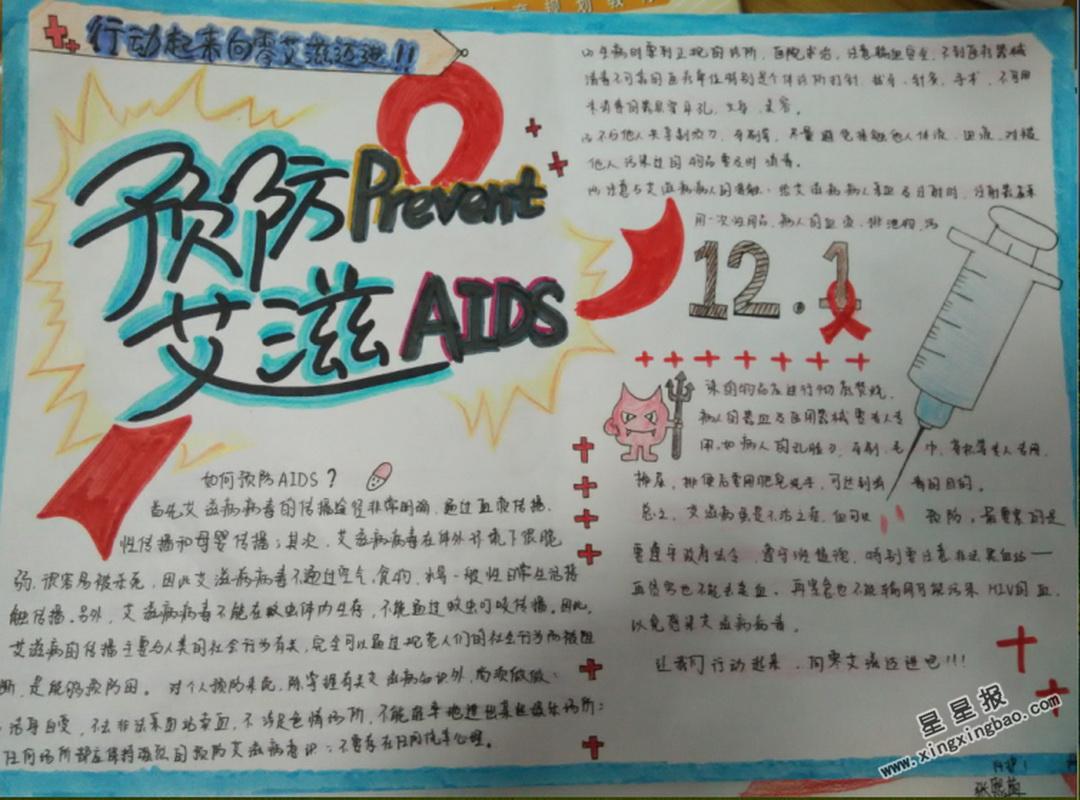 预防艾滋病手抄报图片大全