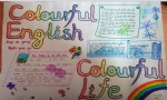 Colorful English Colorful Life英语手抄报版面
