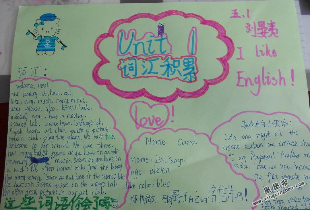 Unit 1英语手抄报内容