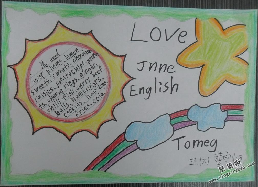 Love Jnne English手抄报内容