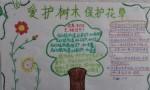 爱护树木保护花草手抄报图片、内容