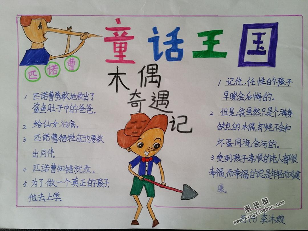童话王国手抄报图片,内容