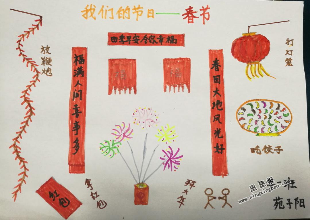 春节节日小报素材_我们的节日—春节手抄报图片大全 - 星星报