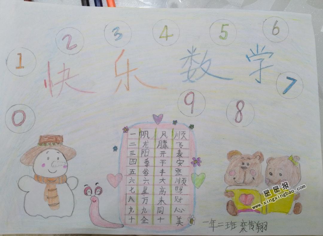 快乐数学手抄报图片3幅