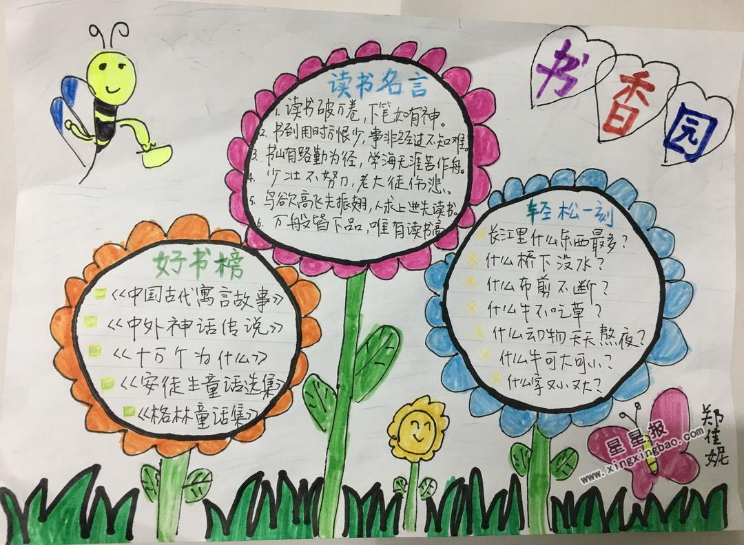 小学四年级书香园手抄报