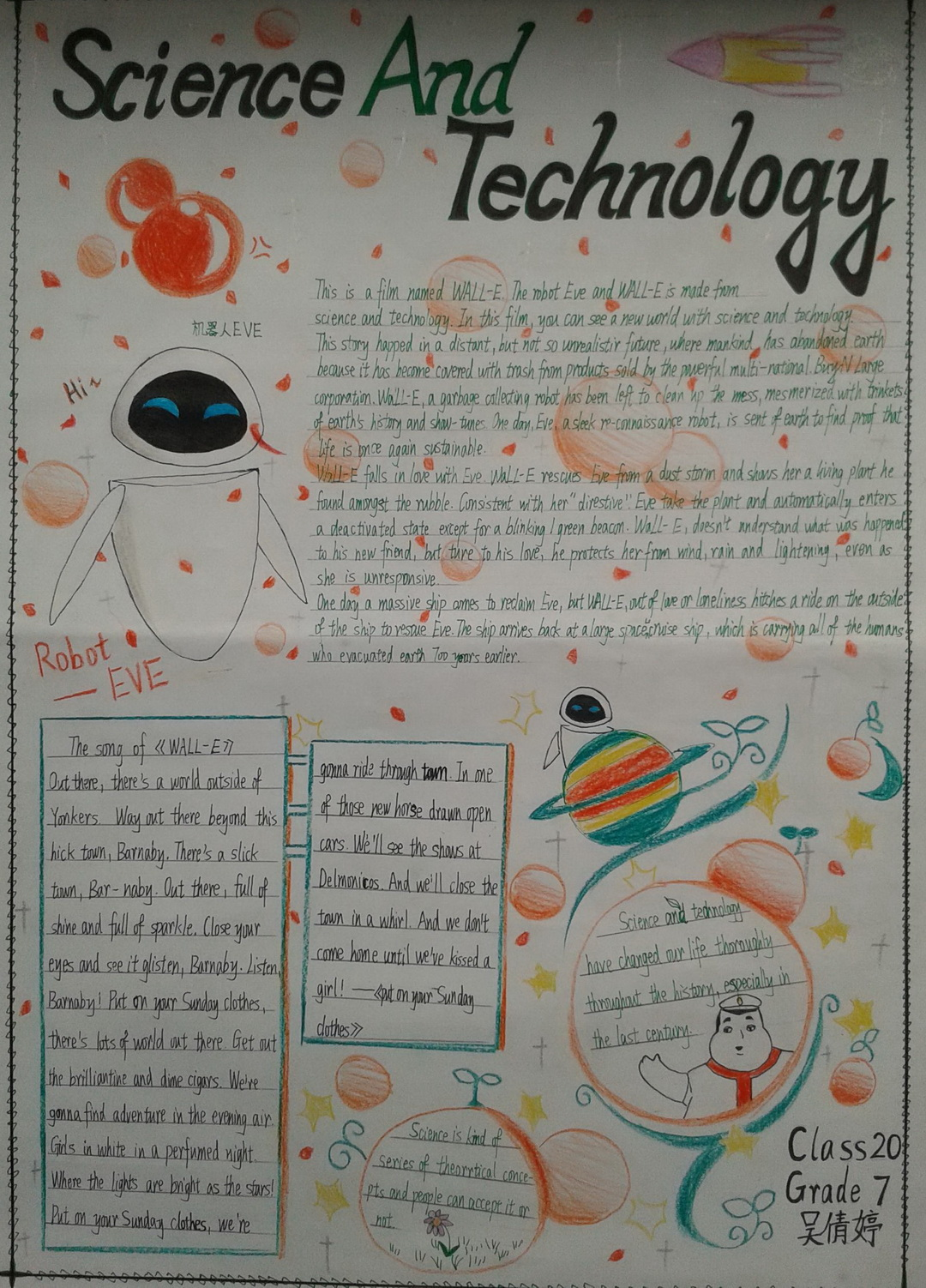 Science And Technology英语手抄报