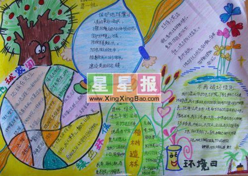 小学生环境日手抄报——绿色环保