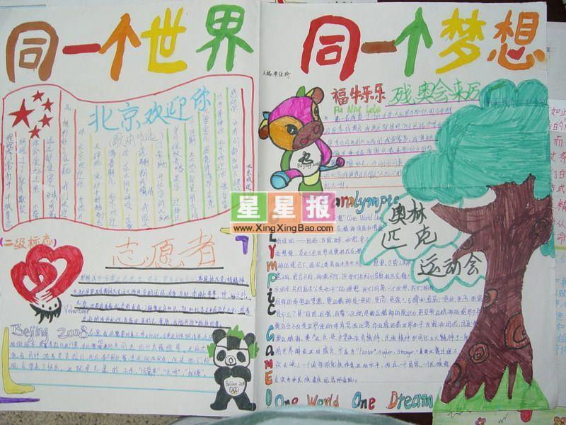 年级(8)班王海阁和马海林共同制作,手抄报版面设计过程在史朝阳老师的