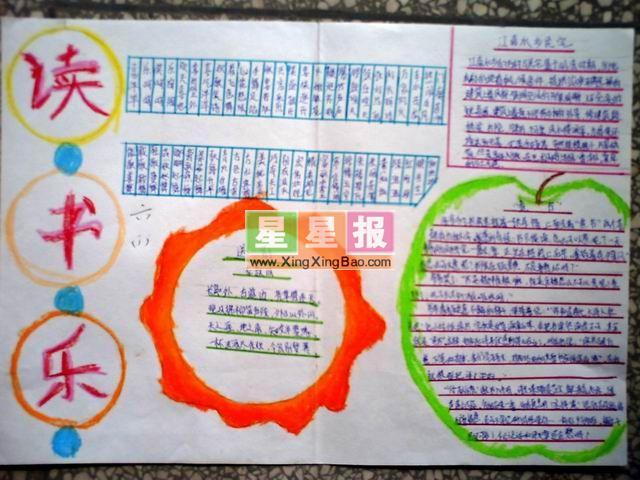 关于学习手抄报内容:读书乐