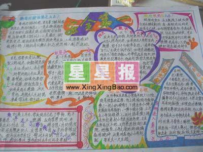 欢庆51手抄报作品,五年级小学生手抄报:糖果屋