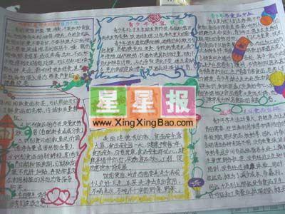 让快乐飞翔手抄报欣赏 小学生英文手抄报作品_news paper 关于信任的