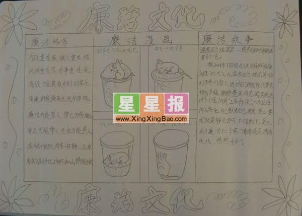 廉洁文化资料_手抄报大全